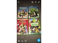 Shrek 1-4 dvds (excellent condition watched once)