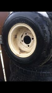 Golf cart rims and tires