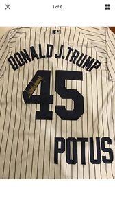 Donald Trump US President Autographed NY Yankees Jersey St. John's Newfoundland image 1
