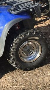 Sportsman rims and bear claw tires