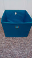 Blue fabric basket, container