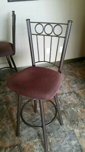 2  swival  bar stools