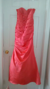 REDUCED!! Prom Dress Size 4 Coral Mermaid Style