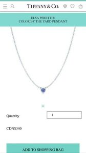T&CO. COLOR BY THE YARD TANZANITE PENDANT NECKLACE - $275 OBO