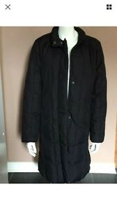 Winter jacket long puffer coat women size L