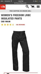 BRAND NEW The North Face Women's FREEDOM INSULATED PANTS