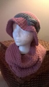 """Crochet Infinity Scarf and """"Timeless Hat"""""""