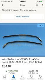 Wind deflectors for golf estate mk5