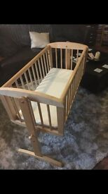 Mother care swinging crib with mattress