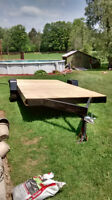 14' Flat Bed Utility Trailer