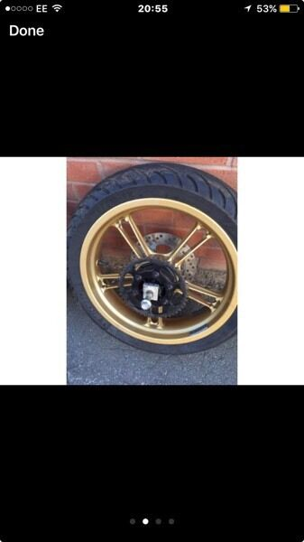 Yzfr125 gold wheels and tyres