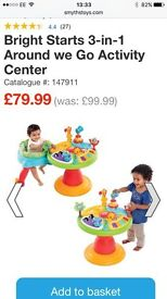 Bright stars 3 in 1 activity centre