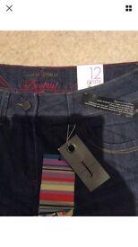 Ladies petite jasper Conran jeans size 12 BNWT