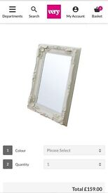 Carved Louis mirrors rrp £159