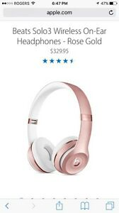 Beats wireless headphones- Rose Gold  Kitchener / Waterloo Kitchener Area image 2