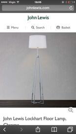 John Lewis Lockhart floor lamp and matching table lamp