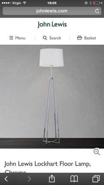 John Lewis Lockhart floor lamp and matching table lamp | in Bothwell ...
