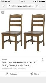 Portabello. Quality dining chairs x FOUR
