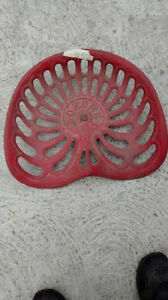 tractor seat ......noxons.......painted red.......
