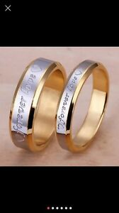 "ENGRAVED "" forever love"" RINGS/BANDS!!!"