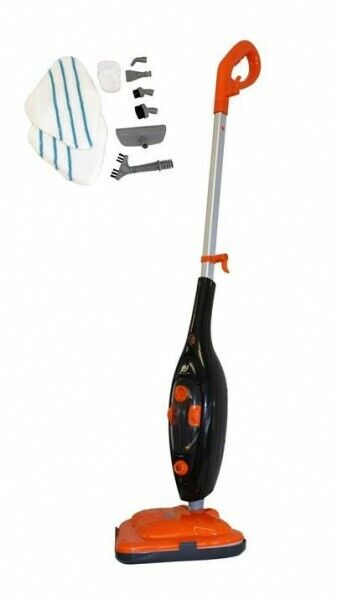 Dampfbesen Dampf Reiniger Mopp Mop Handdampfreiniger Besen 1300W 10 in 1 Zubehör