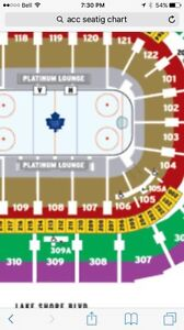 2 Maple Leafs Tickets for Saturday November 5th Sec 107 Gold