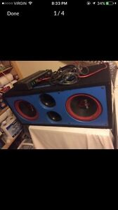 2 12 in subs and amp!!! Going for 200