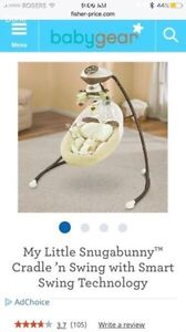 Fisher price baby cradle n swing