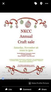 NKCC CRAFT SALE LOOKING FOR VENDORS!