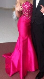Pink mermaid style prom dress size 4-6