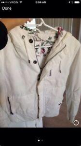 White TNA Jacket Size Large