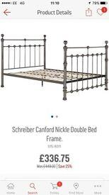 Schreiber canford double bed frame Argos new
