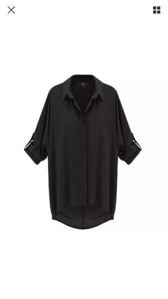 Size 6-8 black shirt new