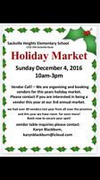 Holiday Market...... CRAFTERS NEEDED