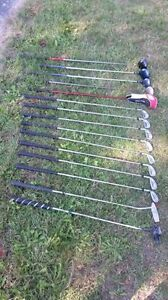 Left hand golf clubs full set of irons and woods and putter