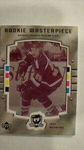 2005-06 The Cup Printing Plates Magenta JEFF WOYWITKA #'d 1/1!