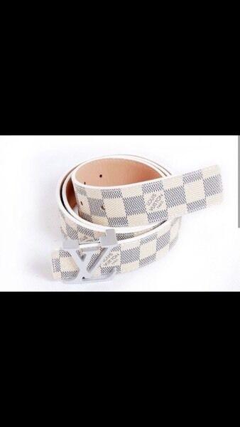 White/Cream Lv Belt