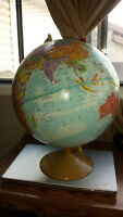Early 1990's Large Globemaster Globe -12 inches diameter