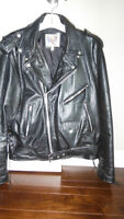 Maryland Leather, Inc. Black Leather Motorcycle Jacket EXCELLENT