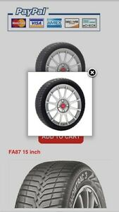 Winter package (tires on wheels) for 2016 Fiat 500.