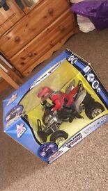 Remote control toy quad bike