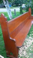 Beautiful Antique Church Pew,  Solid Pine