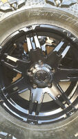 4 NEW ULTRA RIMS WITH NITTO MUD GRAPPLERS LT33/12.5/18