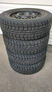 "195/65/R15"" Dunlop winter tires (4) with mountain snowflake"