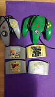 N64 with 4 Games + 2 controllers