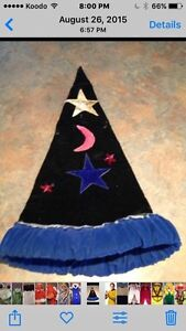 Child wizard costume sz large with hat and wand