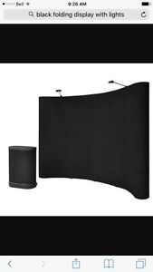 10' curved Pop Up Display Velcro fabric