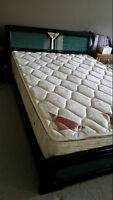 Free Queen Frame with mattress and box spring