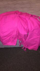 Pink tent for cabin bed