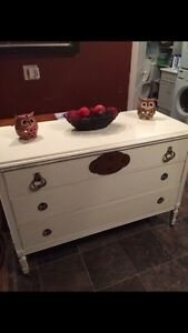 Chalk painted antique dresser.  London Ontario image 1